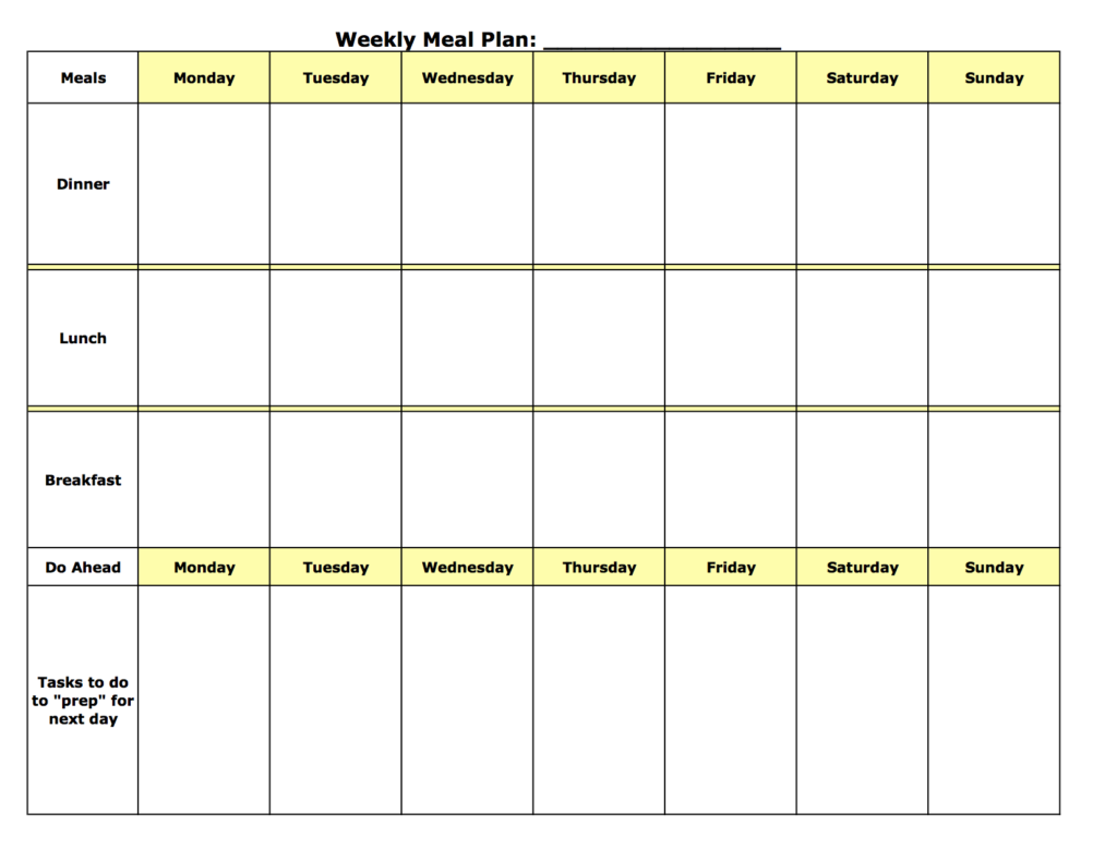 Weight Loss Meal Planner Template Demirediffusion