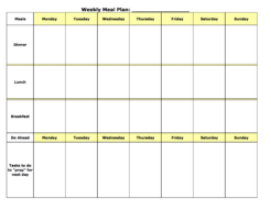Weekly Meal Planning Template PDF